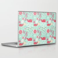 whales Laptop & iPad Skins featuring Whales by Bexie Doodles
