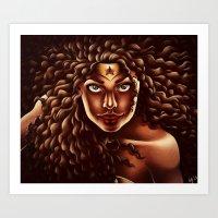 Wonder Gina Art Print