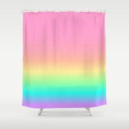 Pastel Rainbow 4 Shower Curtain