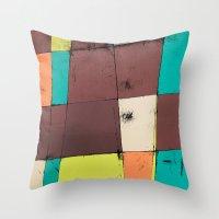 hot air balloon Throw Pillows featuring Hot Air Balloon II by Monty