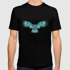 Owl X-LARGE Mens Fitted Tee Black