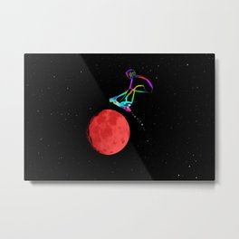 Moon Grabber - Stunt Scooter Rider Metal Print