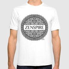 Zentangle - Zenspire  White Mens Fitted Tee MEDIUM