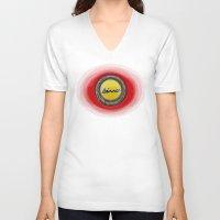 ferrari V-neck T-shirts featuring Ferrari Dino by Rainer Steinke