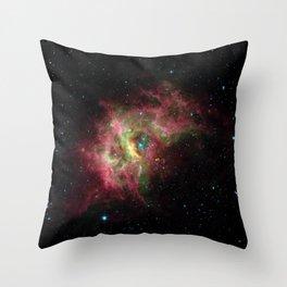 Nebula RCW 49, Milky Way in southern constellation Centaurus Telescopic Photograph Throw Pillow