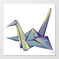 origami Canvas Prints featuring Origami by Daniela Castillo