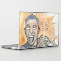 oitnb Laptop & iPad Skins featuring Poussey OITNB by Ashley Rowe