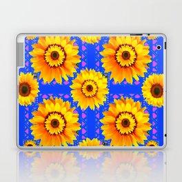 SKY BLUE MODERN SUNFLOWERS ART Laptop & iPad Skin