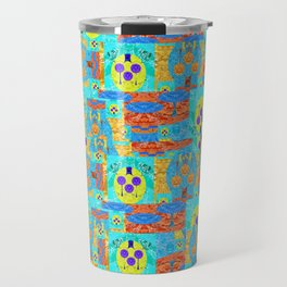 Abstract Patchwork Pixelquilt Travel Mug