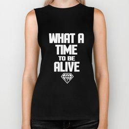 WHAT A TIME TO BE ALIVE  WEST FUTURE HIP HOP RAP HENDRIX Hip Hop Biker Tank