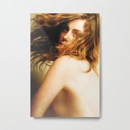 Honey Erotic Nude Metal Print