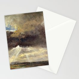 Johan Christian Dahl - Clouds And Sunbeams Over The Windberg Near Dresden Stationery Cards