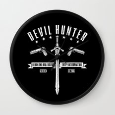 Devil Hunter Wall Clock