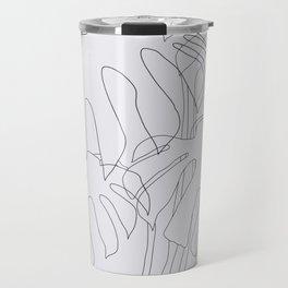 Monstera Illustration Travel Mug