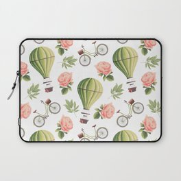 Bicycles Roses and Balloons Laptop Sleeve