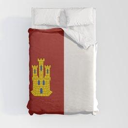 flag of castilla la mancha Duvet Cover