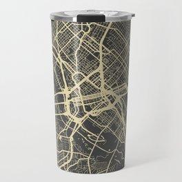 Dallas map Travel Mug