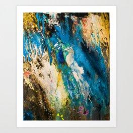 Peacock lovers Art Print