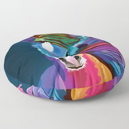 pop art horse Floor Pillow