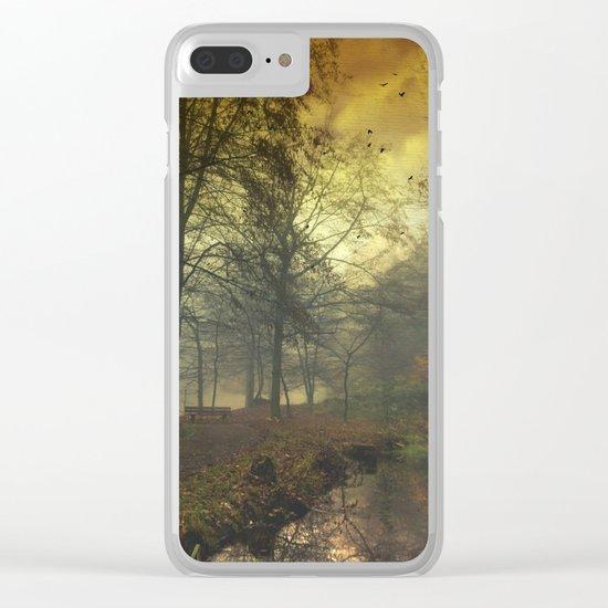mystical pond Clear iPhone Case