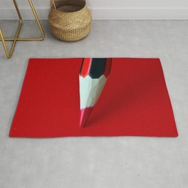 Crayon rouge red Rug