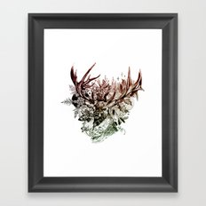 Seasonal Stag Framed Art Print