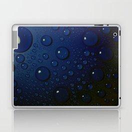 Midnight Blue to Stars in Droplets Polka Dots Laptop & iPad Skin
