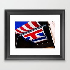 Red White and Blue Framed Art Print