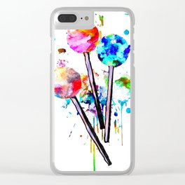 Lollipops Clear iPhone Case