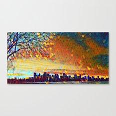 Sunrise Cityscape Canvas Print