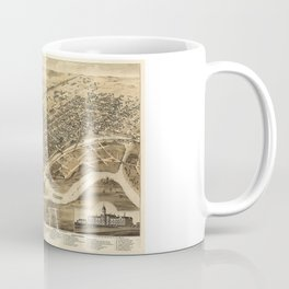 Bird's Eye View of Brantford, Ontario, Canada (1875) Coffee Mug
