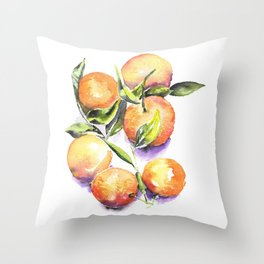 Sweet Clementines Throw Pillow