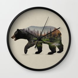 The North American Black Bear Wall Clock
