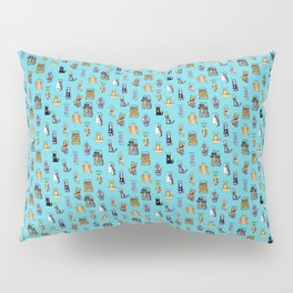 Science cats. History of great discoveries. Schrödinger cat, Tesla, Einstein. Physics, chemistry etc Pillow Sham