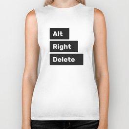 Alt Right Delete Shirts (Light) Biker Tank