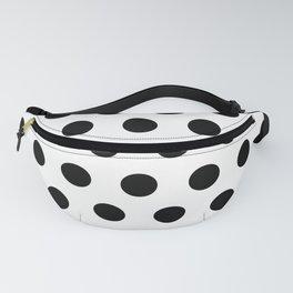 White & Black Polka Dots Fanny Pack