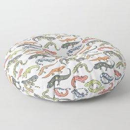 Salamander Pattern Floor Pillow