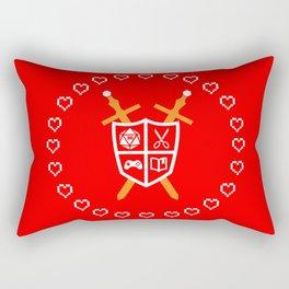 Crest of Nerdom Rectangular Pillow