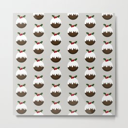 Little Christmas Puddings Metal Print
