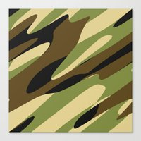camo Canvas Prints featuring Camo by SShaw Photographic