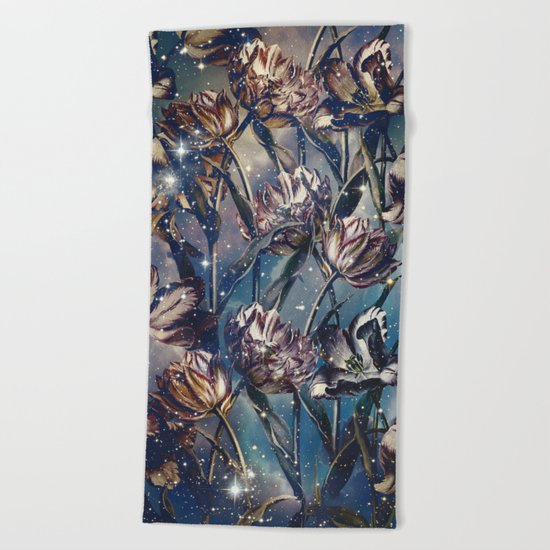 NIGHT FOREST XI Beach Towel