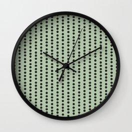 Dots Stripes Vertical Green Wall Clock