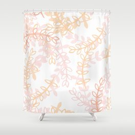Kay - Blush and Pink Floral Print Shower Curtain
