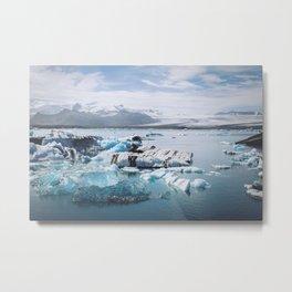 Icelandic glacier Metal Print