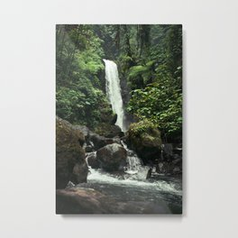 Lush Jungle Waterfall Looks Like Jurassic Park Metal Print