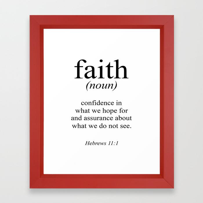 Red X 10 U Verse: Faith Framed Art Prints