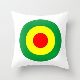 Rasta Reggae Dub Roundel Throw Pillow