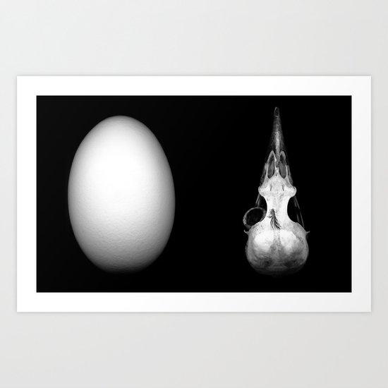 Egg and Skull #1 Art Print