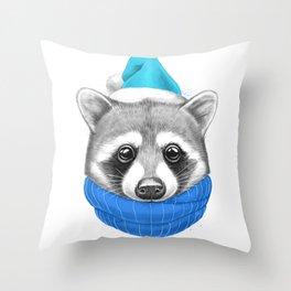 Little Raccoon Throw Pillow