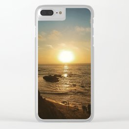 Children's Pool Sunset Clear iPhone Case